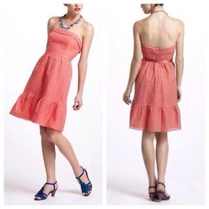 Anthropologie Hitherto Pink Eyelet Cutout Dress 2